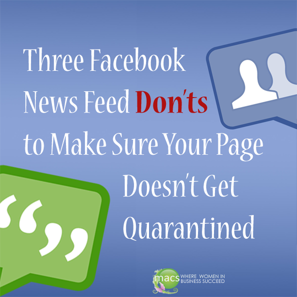 Facebook donts make sure your pages doesn't quarantined