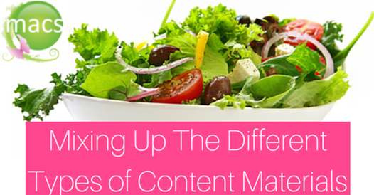 Mix up different types content materials