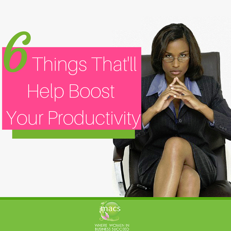Things help boost productivity