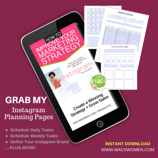 Grow your instagram business account with these planning pages for business women