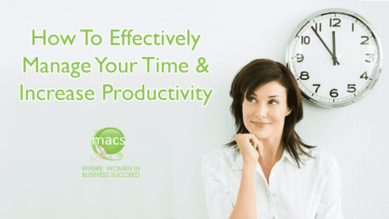 Effectively manage time increase productivity