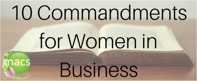10 commandments for women in business