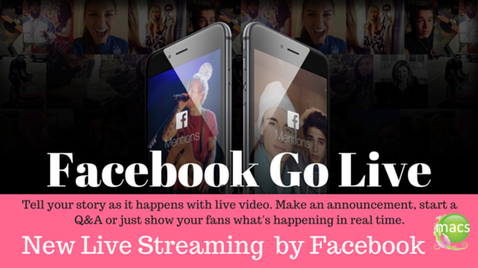 Go 'Live' Facebook video streaming now available