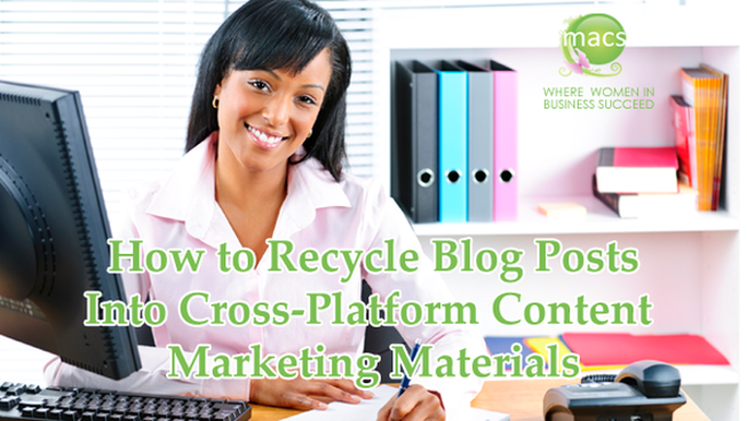 Business women learn how to recycle blog posts