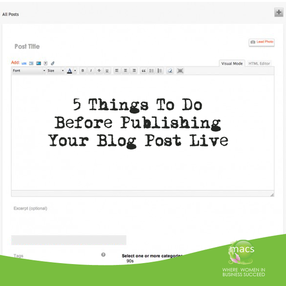 5 Things to do Before publishing blog post live