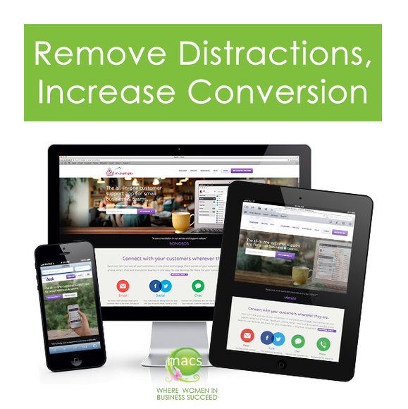 Remove Distraction Increase Conversion