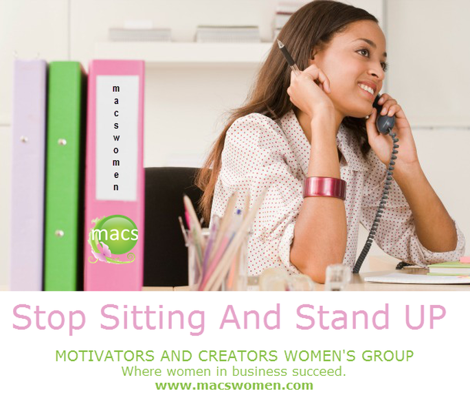 Stop sitting and start standing businesswomen