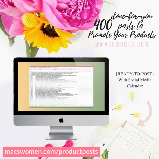 400 Done for you social media promo posts