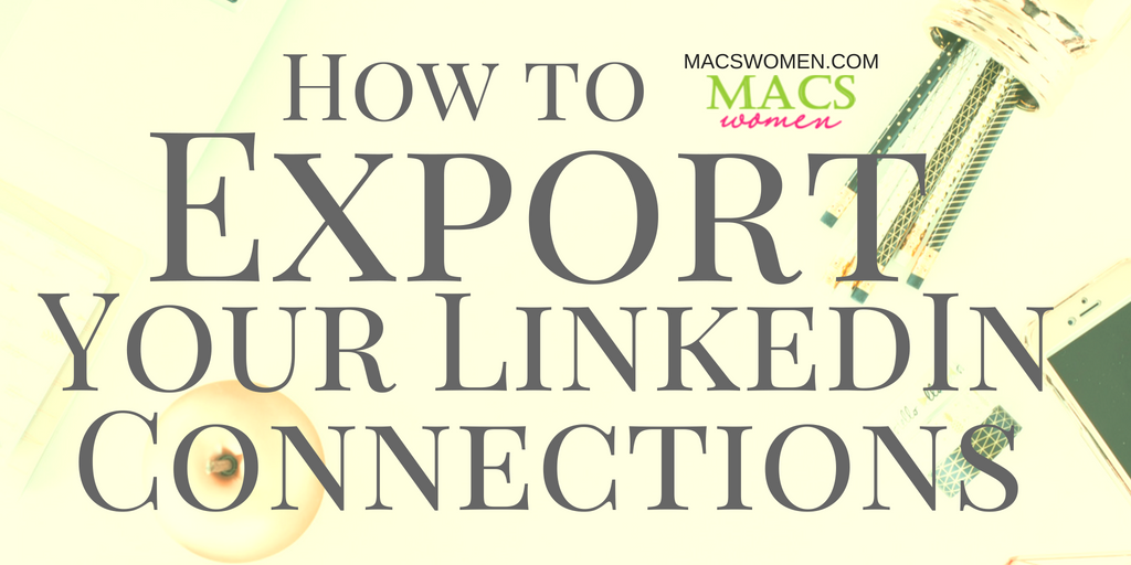How to export your linked in connections