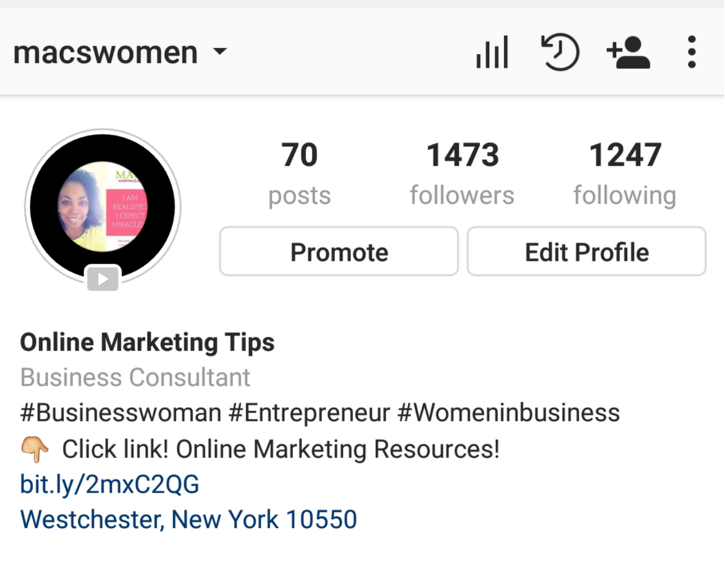 Follow macswomen on instagram for more online marketing tips