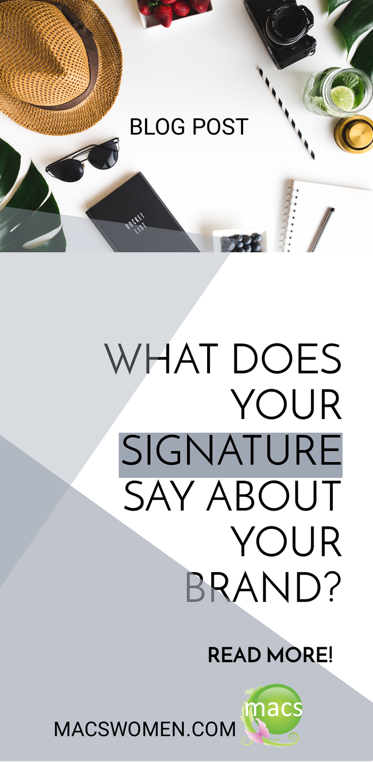 What does your signature say about your brand businesswoman
