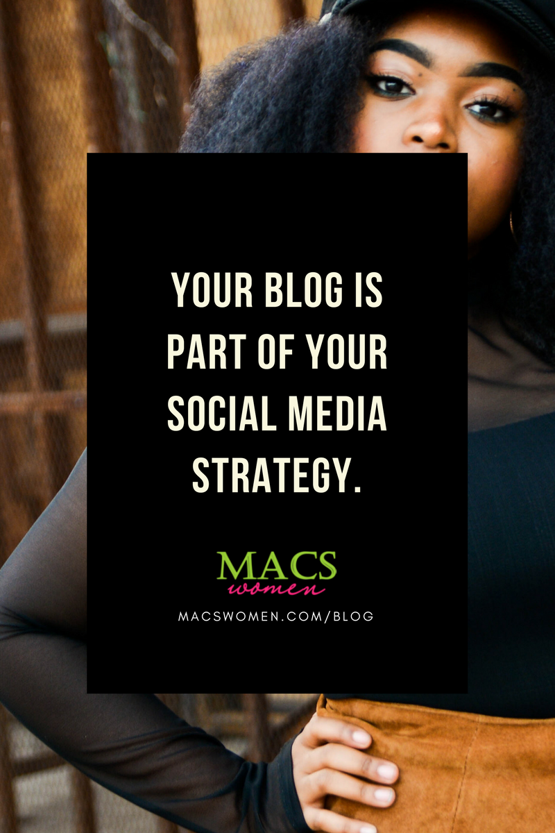Your blog is part of your social media strategy